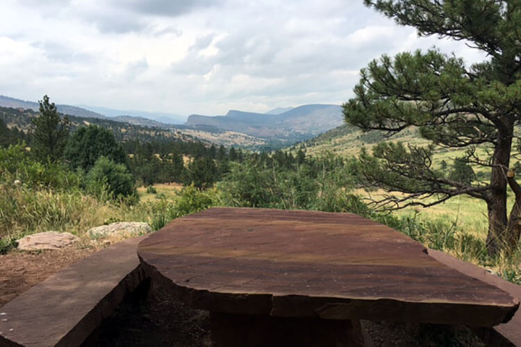 Slab Rock Picnic Table, Picture Rock Trail Lyons CO.